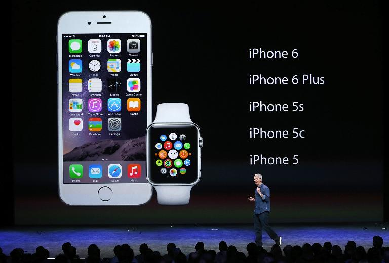 Apple CEO Tim Cook speaks during an event on September 9, 2014 in Cupertino, California where the company unveiled two new iPhones, the iPhone 6 and iPhone 6 Plus and the Apple Watch