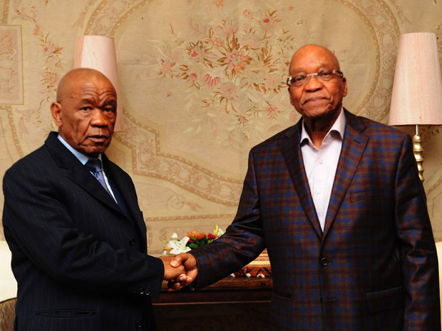 FILE PICTURE: President Jacob Zuma meets the Prime Minister of Lesotho Thomas Thabane and his delegation to discuss the political and security state in the Kingdom of Lesotho. (Photo: GCIS)