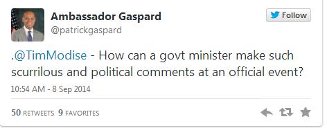 Patrick Gaspard, twitter, thuli madonsela, cia