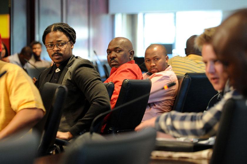 FILE PICTURE: Fired Generations actors Zolisa Xaluva, Menzi Ngubane and Mandla Gaduka during a press briefing. Picture: Refilwe Modise