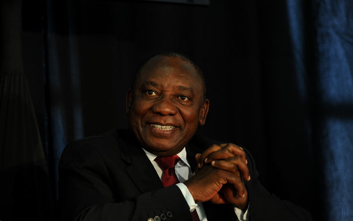 FILE PICTURE: Deputy President Cyril Ramaphosa. Picture: Werner Beukes/SAPA