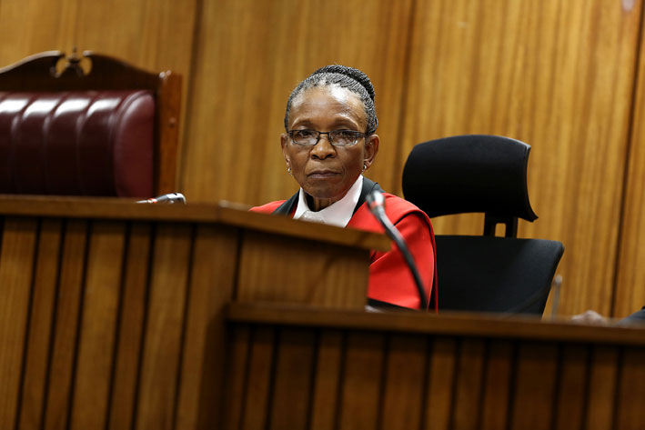 FILE PICTURE: Judge Thokozile Masipa is seen at the sentencing hearing of paralympian Oscar Pistorius at the high court in Pretoria, Thursday, 16 October 2014. Picture: Alon Skuy/Times Media Group/Pool
