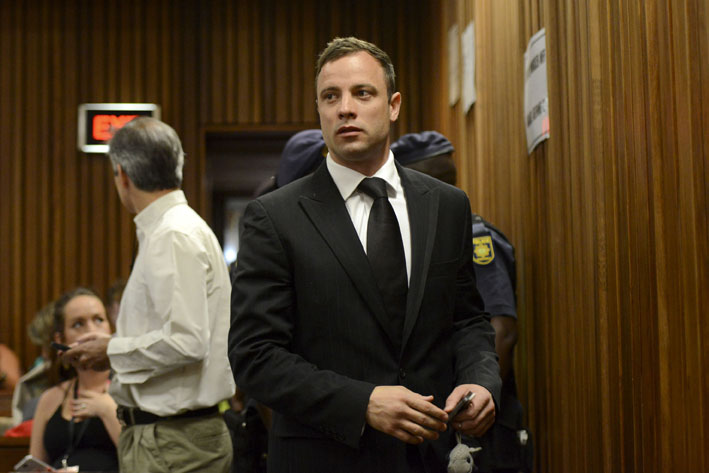 Oscar Pistorius arrives at the high court in Pretoria on Tuesday, 21 October 2014. Picture: Herman Verwey/Media24/Pool