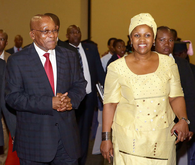 President Jacob Zuma with executive chairperson of the Jacob Zuma Foundation as well as chairperson of SAA Dudu Myeni. Picture: GCIS