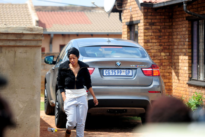 FILE PICTURE: Singer Kelly Khumalo's sister is seen at the Zamo Section in Vosloorus. Picture: Tracy Lee Stark