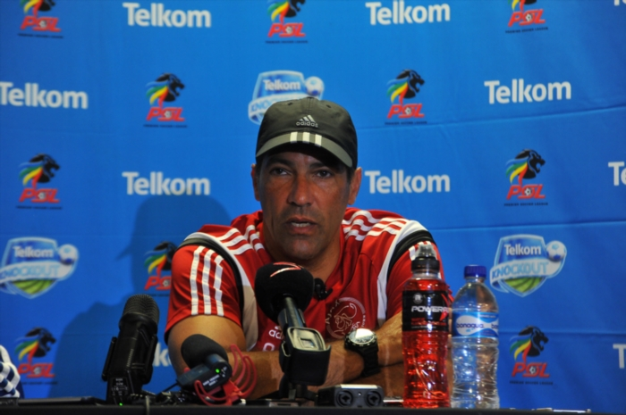 FILE PICTURE: Roger de Sa (Ajax Cape Town head coach) during the Ajax Cape Town media open day at Cape Town Stadium on October 02, 2014 in Cape Town, South Africa. (Photo by Ashley Vlotman/Gallo Images)