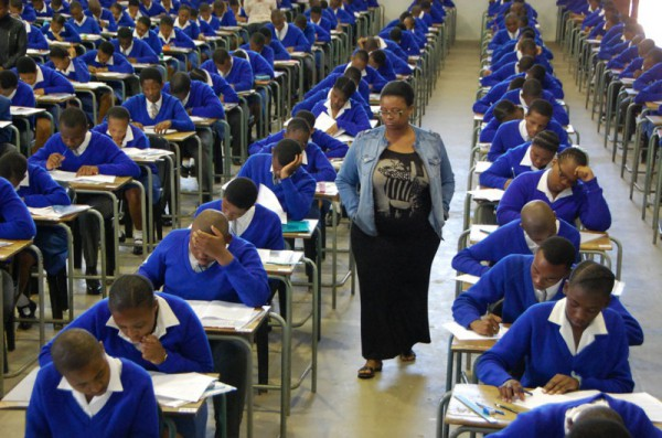 FILE PICTURE: Matric students sit for their first matric exam. Picture Phumlani Thabethe