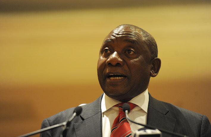 Deputy President Cyril Ramaphosa. File Picture: Werner Beukes/SAPA