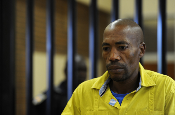 FILE PICTURE: Thamsanqa Twala appears in the Boksburg Magistrate's Court on Friday, 7 November 2014 in connection with the death of four-year-old Taegrin Morris. Picture: Werner Beukes/SAPA