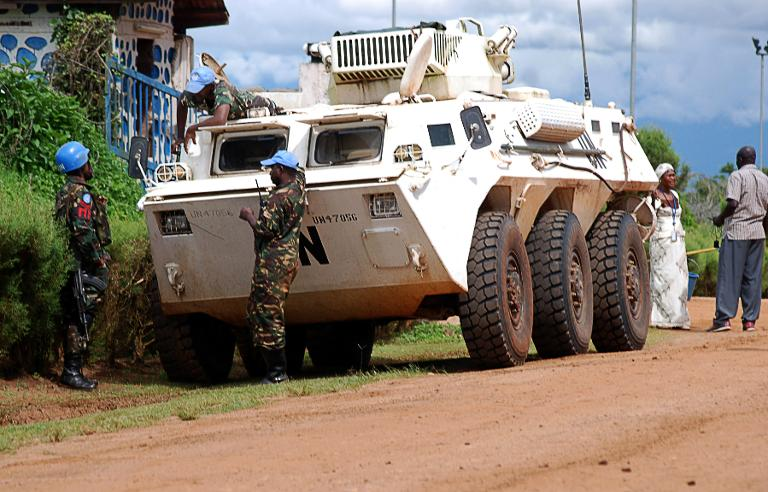 File picture: AFP/File / Alain Wandimoyi<br />Members of the UN Organization Stabilization Mission in the Democratic Republic of Congo (MONUSCO) patrol on October 23, 2014.