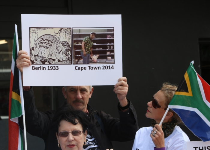 FILE PICTURE: Members of the Jewish Community picket outside the Woolworths in Sea Point on October 30, 2014 in Cape Town, South Africa. Picture: Gallo Images / The Times / Esa Alexander