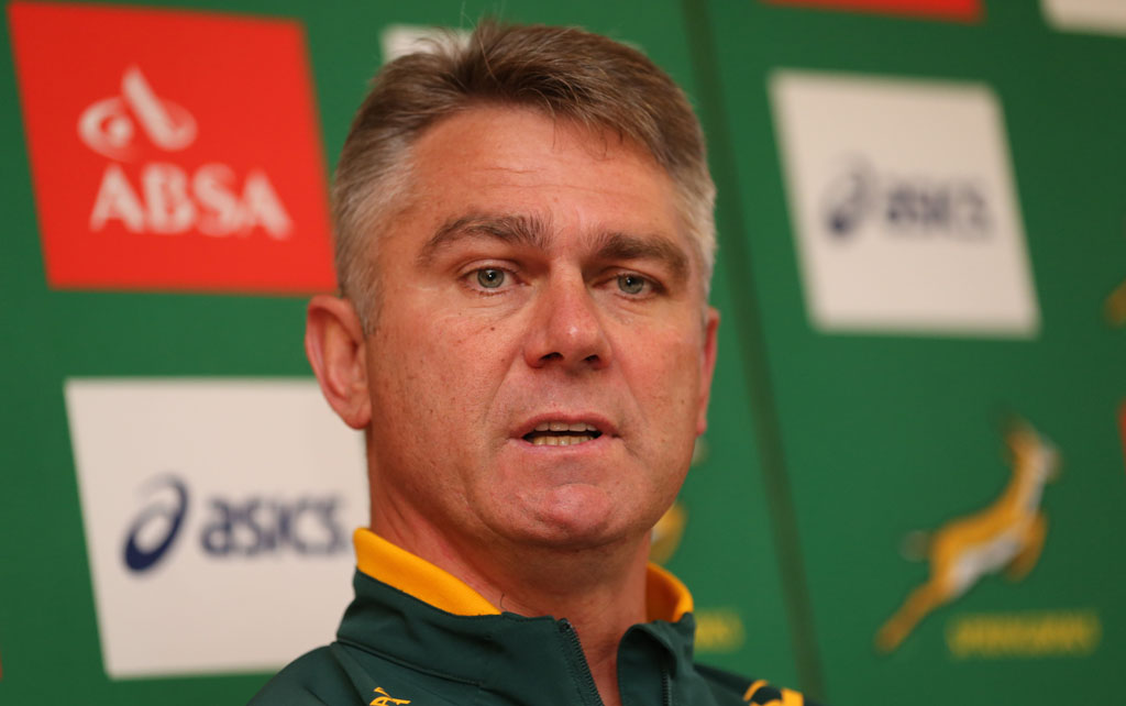 Heyneke Meyer (Head Coach) of South Africa during the South African National rugby team announcement at Shrewsbury Suite, Radisson Blu on November 05, 2014 in Dublin, Ireland. (Photo by Steve Haag/Gallo Images)