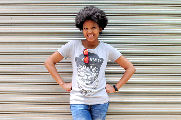 PHOTO FUN. Talita Ndima poses for a picture in Braamfontein during an interview with The Citizen. Picture: Tracy Lee Stark