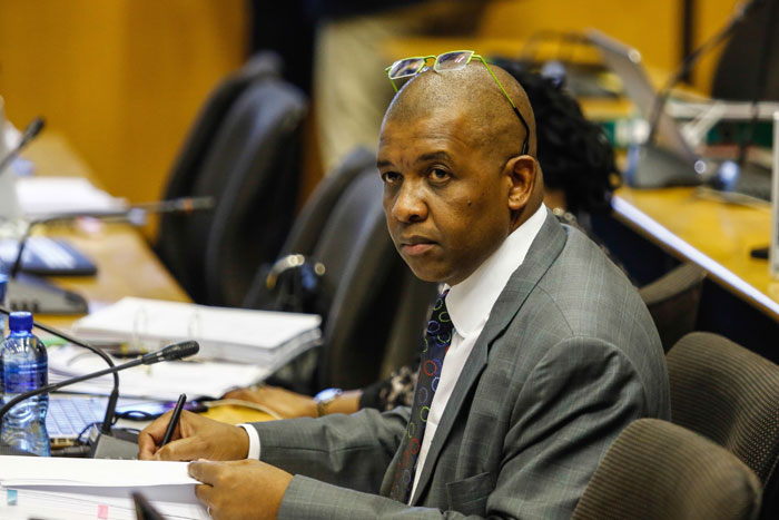 FILE PICTURE: Advocate Dali Mpofu during the Marikana Commission of Inquiry on August 12, 2014 in Pretoria, South Africa. Deputy President Cyril Ramaphosa was on the stand for a second day at the inquiry. The commission is investigating what led to the deaths of 46 people during an illegal wage strike by Lonmin mine workers.  (Photo by Gallo Images / The Times / Moeletsi Mabe)