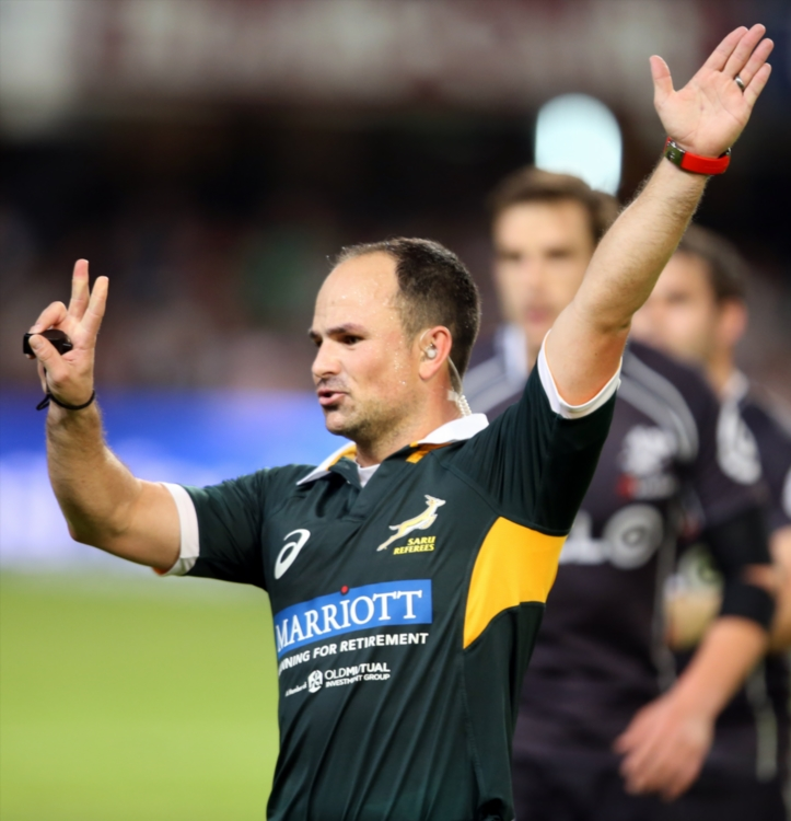 Referee Jaco Peyper (South Africa). Photo: Steve Haag/Gallo Images