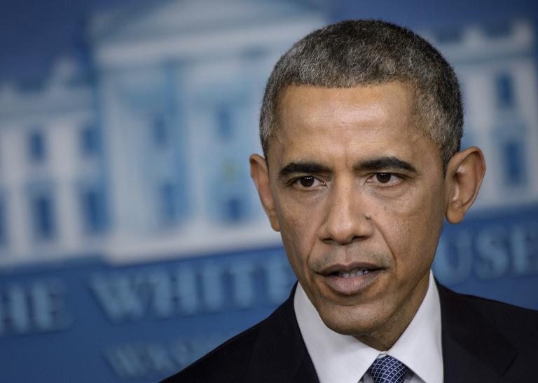 AFP / Brendan Smialowski <br />US President Barack Obama speaks during a press conference on December 19, 2014 in Washington