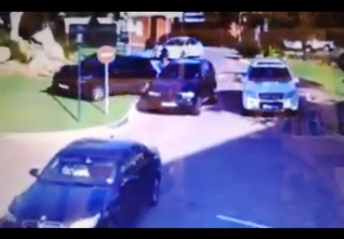 A screen shot of a video showing an attempted hijacking outside a prep school in Johannesburg. Pic: e-Blockwatch/Facebook