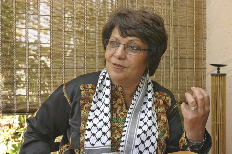 FILE PICTURE: Leila Khaled, former member of the Popular Front for the Liberation of Palestine (PFLP), part of the secular, leftwing Palestinian rejectionist front. She is currently a member of the Palestinian National Council. Khaled came to public attention for her role in a 1969 hijacking and one of four simultaneous hijackings the following year as part of the Black September time line. Picture: City Press/Bongani Mnguni/Gallo Images.