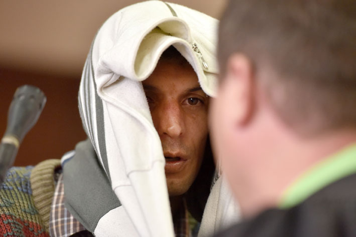 FILE PICTURE: Attempted murder accused Jan Pieterse, 29, appears at the Johannesburg Magistrate's Court on Wednesday, 21 January 2015. The State alleges Pieterse tried to kill his ex-girlfriend, Ines Antonio, 22, by throwing acid over her outside her house in Sydenham on November 3. She sustained burns to her face and chest. Picture: SAPA stringer