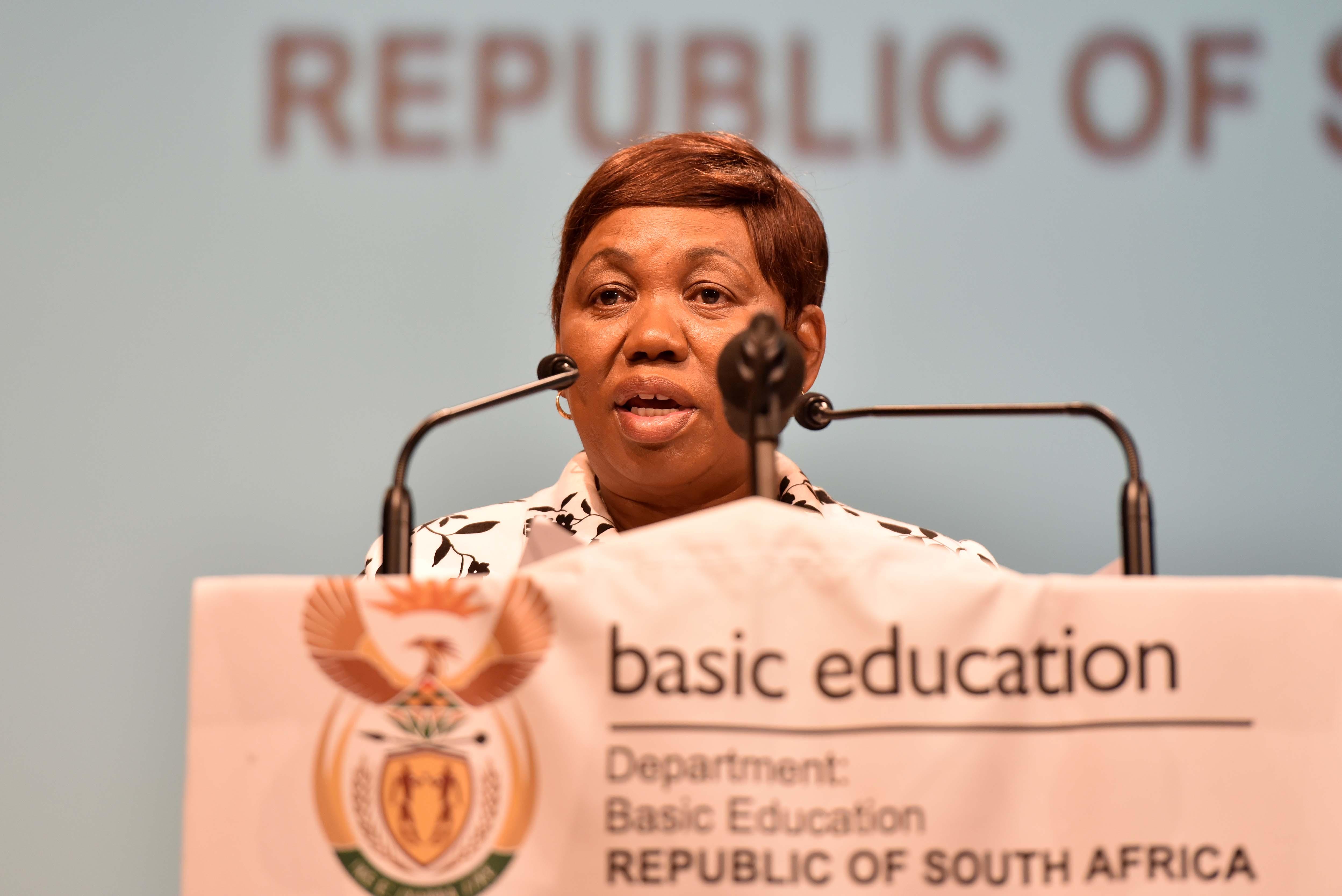 Minister of Basic Education, Angie Motshekga. File Picture Neil McCartney