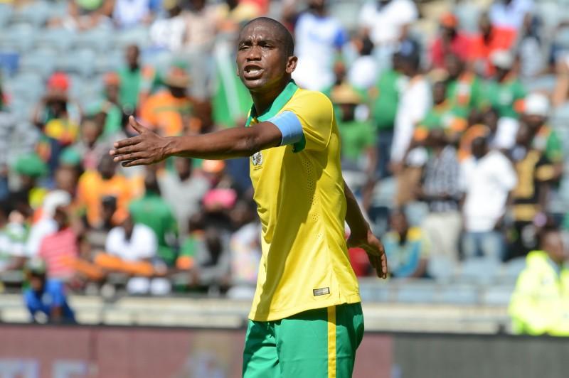 Anele Ngconca of Bafana Bafana. Pic: Lefty Shivambu/Gallo Images.