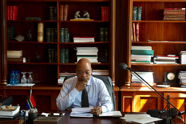 President Jacob Zuma prepares his speech ahead of the State of the Nation Address (SoNA) in the National Assembly. (Photo: DOC)