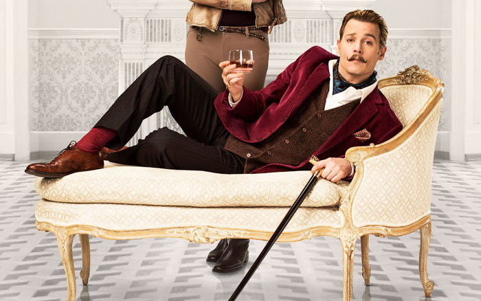 Johnny Depp as Mortdecai. Picture: Supplied.