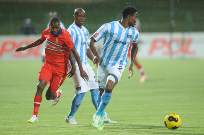 James Okwuosa Chippa United during the Absa Premiership match between University of Pretoria and Chippa United at Tuks Stadium on February 10, 2015 in Pretoria, South Africa. (Photo by Lee Warren/Gallo Images)