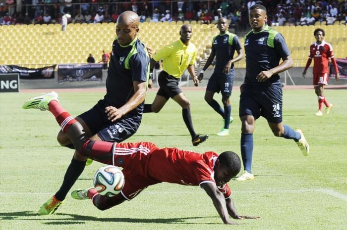 the absa premiership match between platinum stars and orlando pirates