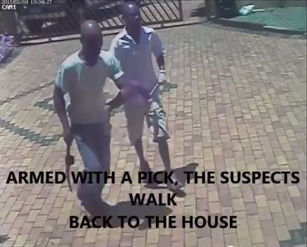 A screengrab of the video showing the suspects.