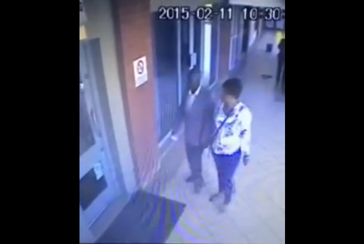 A screengrab of the video showing the suspects involved in the robbery.