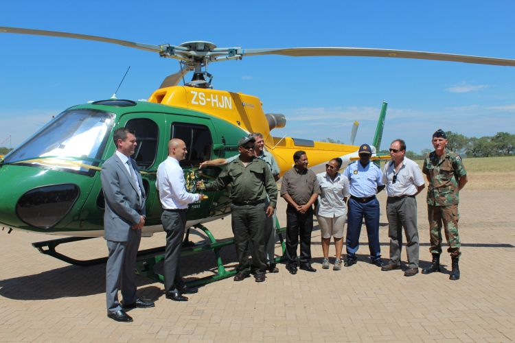 Advanced helicopter to tackle rhino poaching