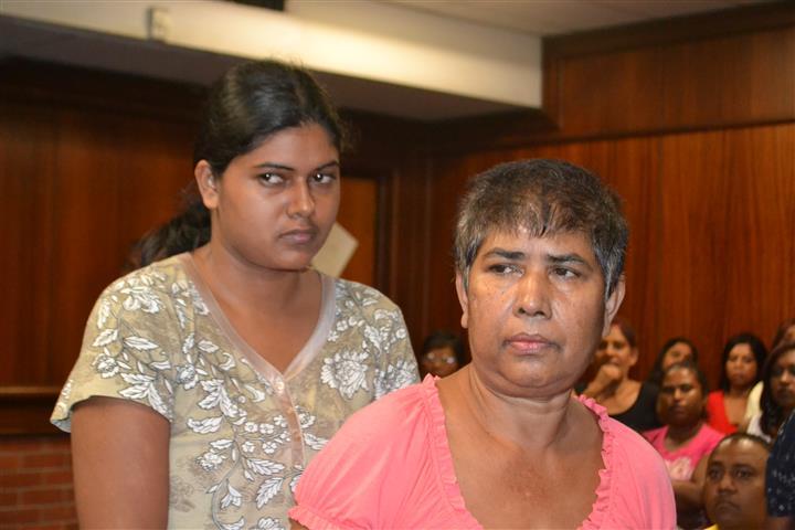 Murder accused Kavitha Naicker and Rajwanthi Haripersadh. Pic: Phoenix Sun.