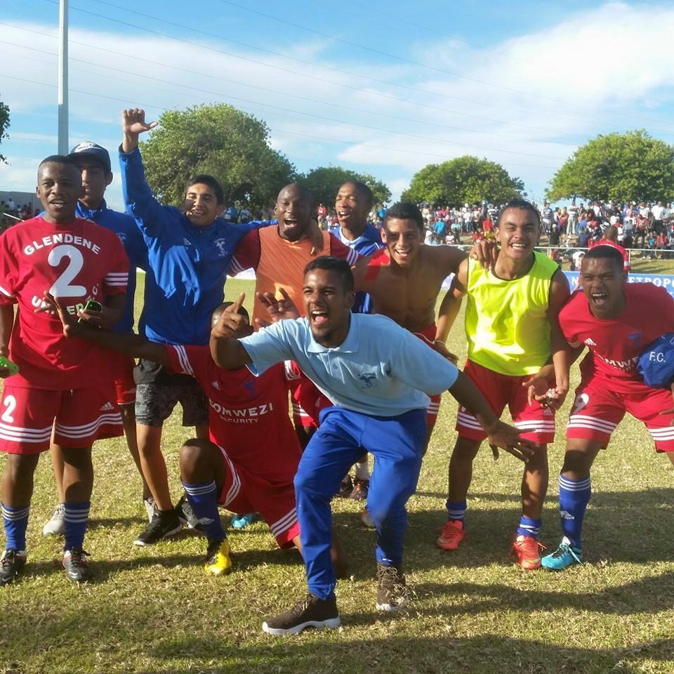 Glendene United players celebrate after winning the Metropolitan Under-19 Premier Cup. (Photo by Glendene)