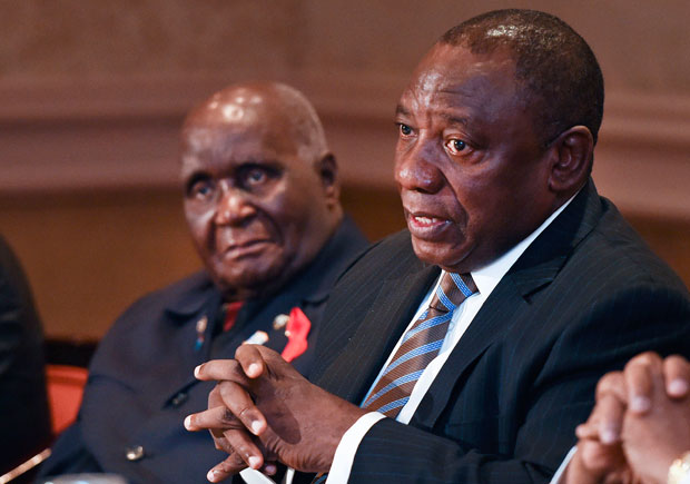 FILE PICTURE: President Cyril Ramaphosa addresses the Champions for an AIDS-Free Generation meeting comprising of former African Heads of State and Government. (Photo: GCIS)