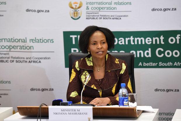 International Relations and Cooperation Minister Maite Nkoana-Mashabane. (Photo: DIRCO)