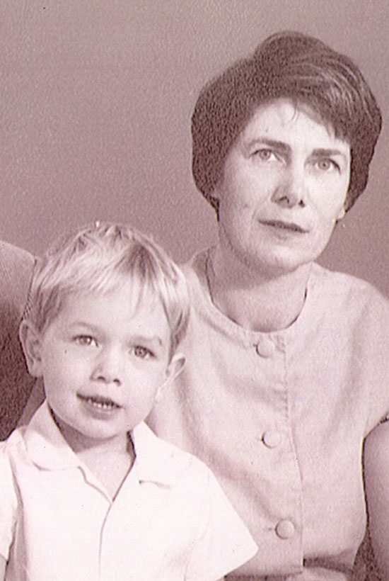 A young Sean Davison with his mother. Picture: Supplied