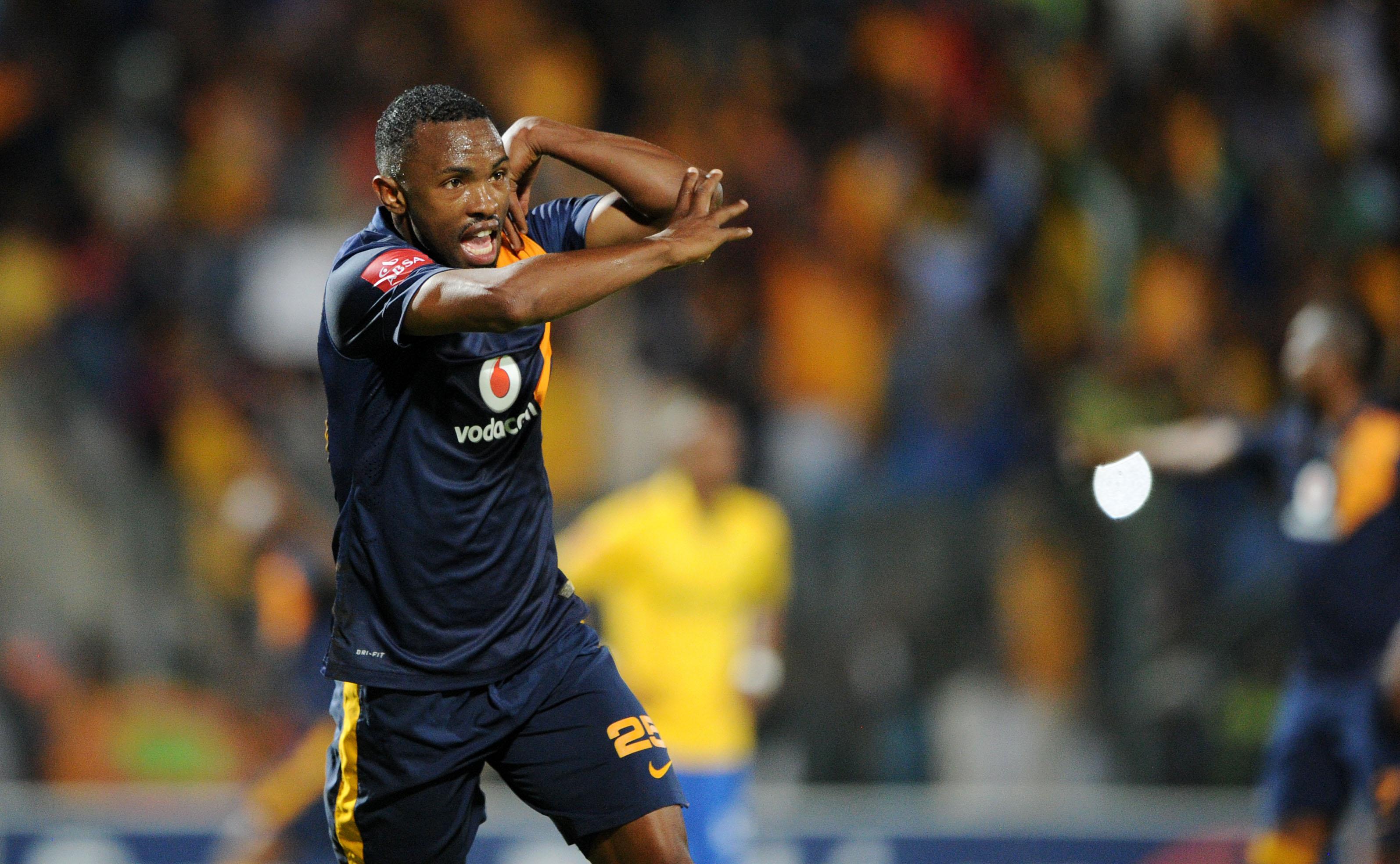 Bernard Parker celebrates his goal against Sundowns. Pic: Muzi Ntombela/BackpagePix