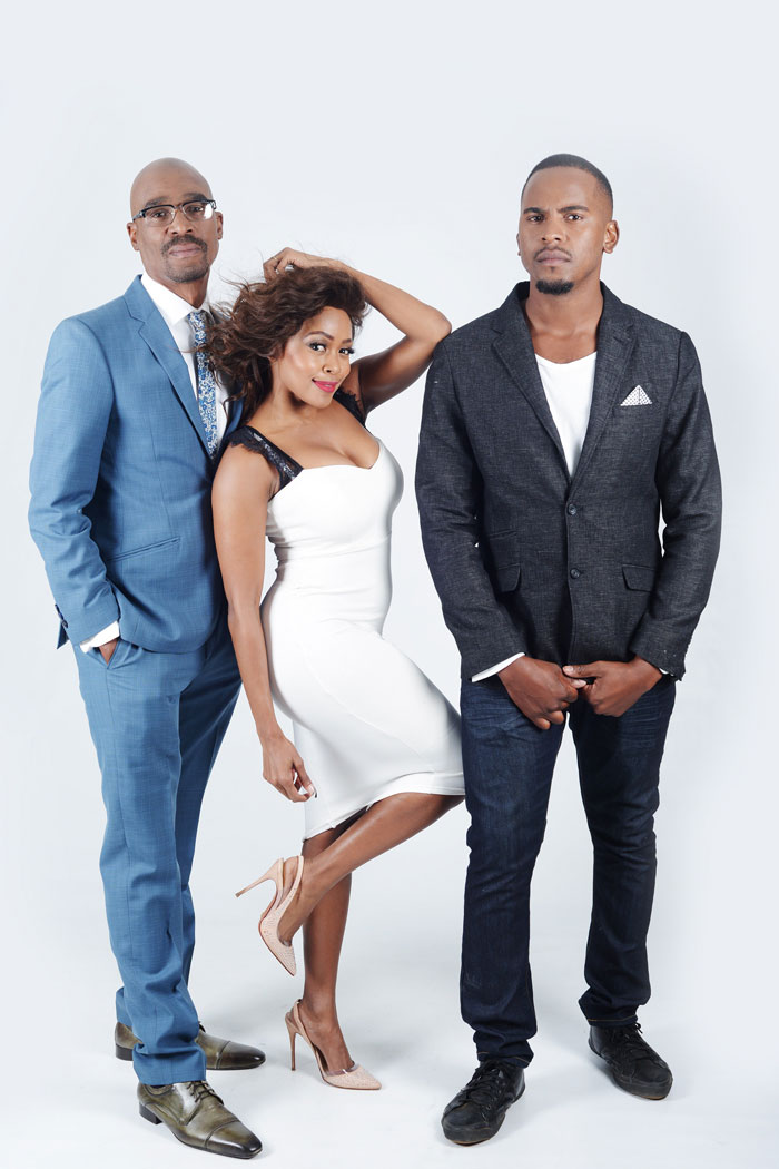 Bob Mabena, Thembi Seete and Mandla Hlatswayo are the presenters on Please Call Me. Picture: Supplied.