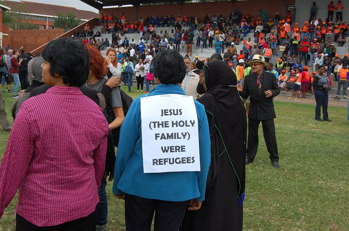 People have started arriving at the Curries Fountain stadium in Durban for the Peace March asking for peace in the Durban area and KwaZulu-Natal province, which is engulfed by xenophobic attacks on foreign nationals. Picture: Phumlani Thabethe. Date: 16 April 2015