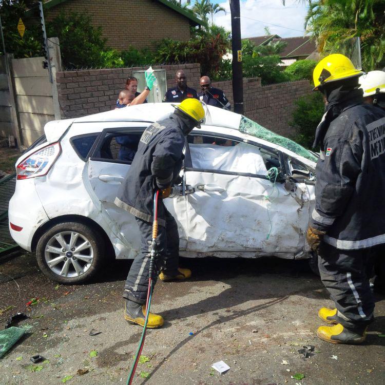 The scene of the accident. Picture: Rescue Care