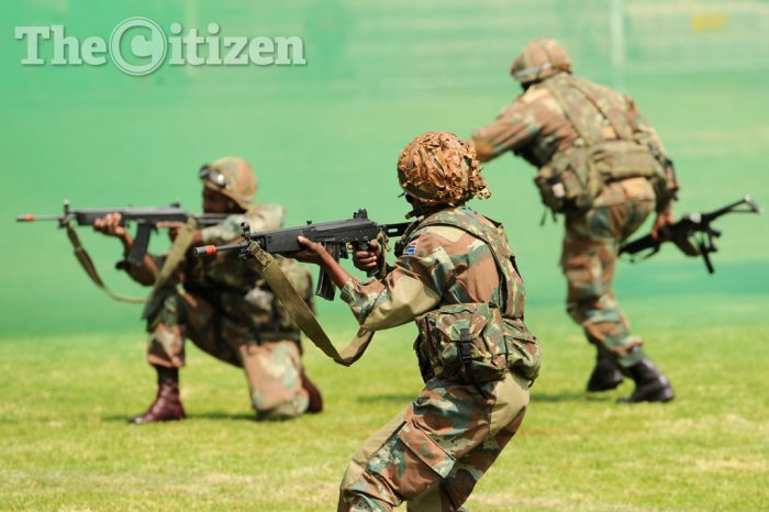 FILE PICTURE: Members of the South African National Defence Force (SANDF). Picture: Michel Bega