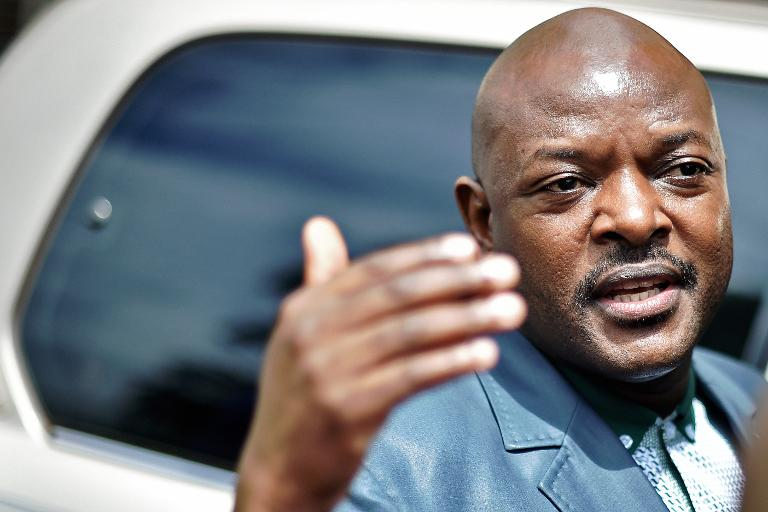 AFP / Carl De Souza<br />Burundi's President Pierre Nkurunziza in Bujumbura on May 17, 2015, his first official appearance since an attempted coup against him this week