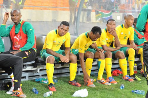 0f392cfc4e44 File picture  Dejected Bafana players during the Nelson Mandela Challenge  match between South Africa and