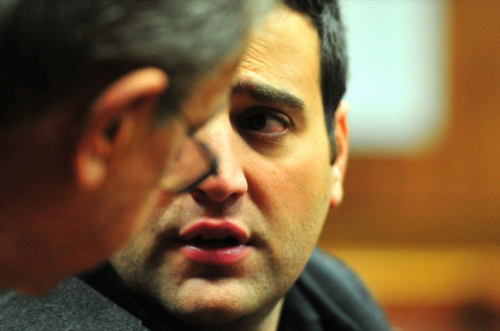 Christopher Panayiotou during his bail hearing at the Port Elizabeth Magistrates' Court on June 4, 2015 in Port Elizabeth, South Africa. Christopher Panayiotou's bail hearing in the murder case of his wife continued in court yesterday. Judgement was postponed to June 5, 2015. (Photo by Gallo Images / Beeld / Deon Ferreira)