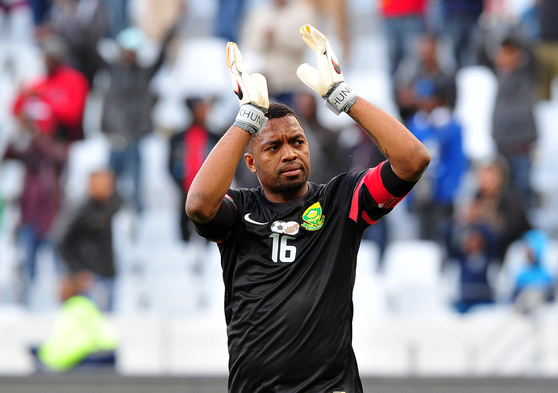 Itumeleng Khune will lead Bafana on his 28th birthday. Pic: Ryan Wilkisky/BackpagePix