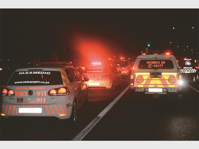 FILE PICTURE: Paramedics responding to an accident scene. Pic: Krugersdorp News
