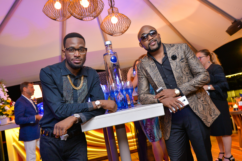 D'Banj and Banky W at the launch of Ciroc Pineapple in Mauritius. Picture: Supplied
