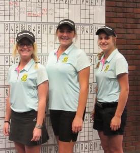 Natasha Carlsson, Ivanna Samu & Kaleigh Telfer from the girls team. Picture: Karen Olivant