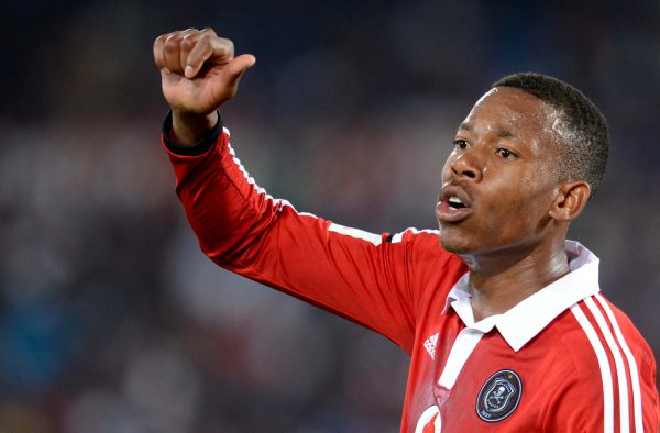 Happy Jele of Orlando Pirates. Pic: Lefty Shivambu/Gallo Images.